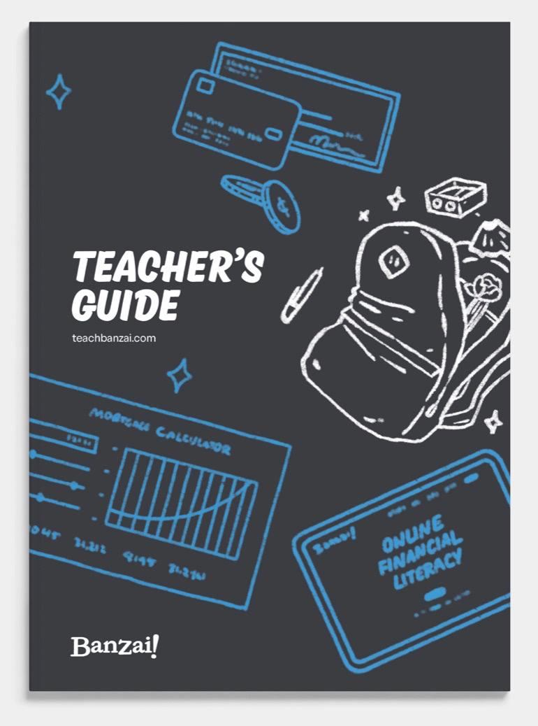 Banzai's Teacher's Guide booklet