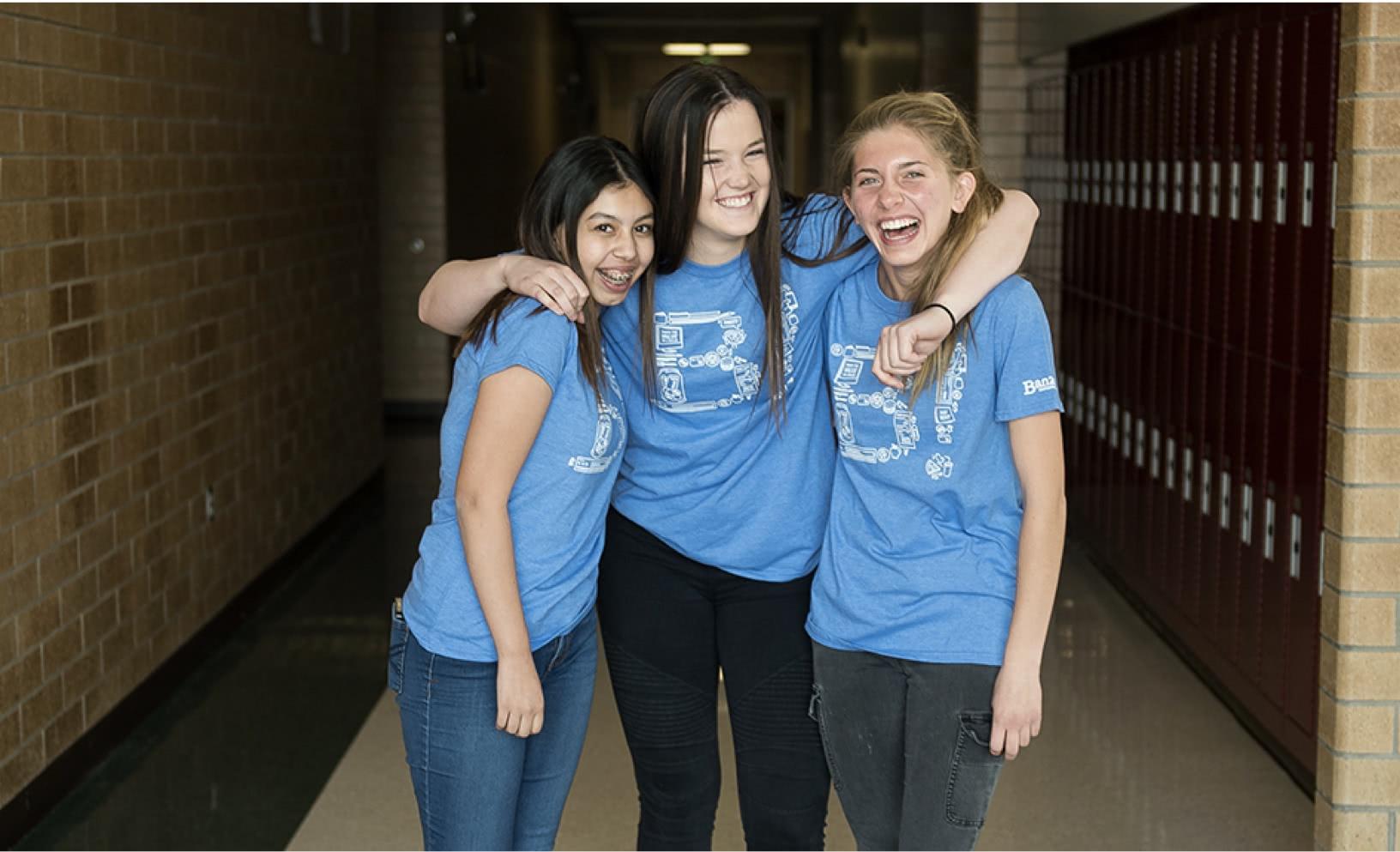 Students wearing Banzai t-shirts
